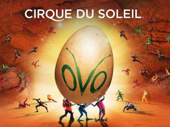 Cirque du Soleil: OVO will perform at 7:30 p.m. April