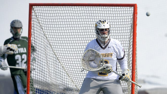 Elmira Heights native Tyler White is a returning All-American goalie for the Towson University men's lacrosse team.