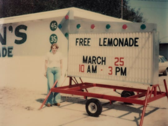 A photo of Damian's Lemonade on grand opening day in