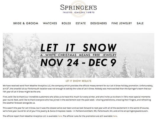 shoppers come away empty handed in christmas snowfall promotion
