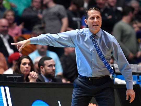 Nevada head coach Eric Musselman directs his team during