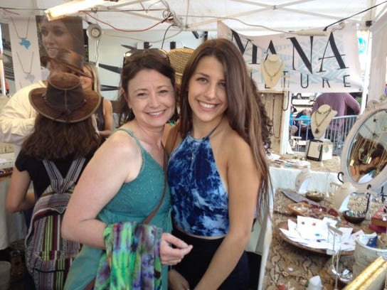 Denice and Elizabeth Skinner do mom and daughter fashion