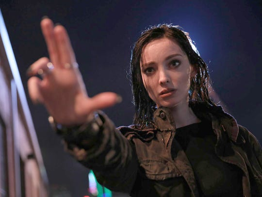 Polaris (Emma Dumont) is a conflicted girl with magnetism