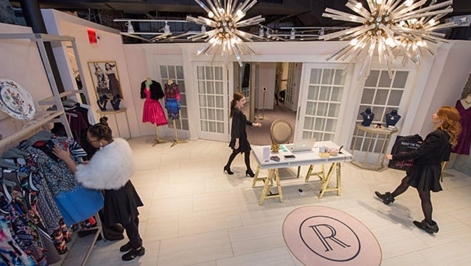 A Rent the Runway brick-and-mortar store in Washington. Are women ready to rent their work wear? Rent the Runway bets yes.