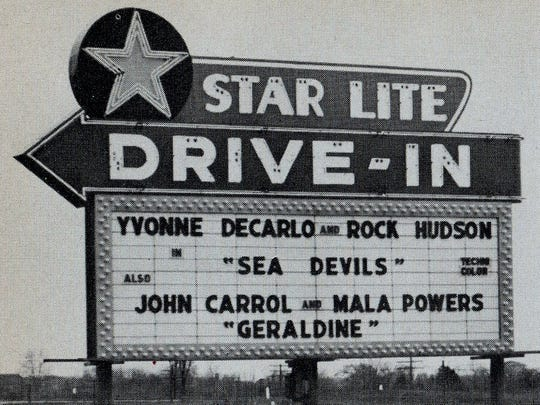 Starlite Drive-In, undated photo.
