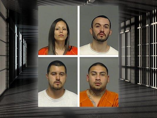 Mugshots: Gamez, Lerma, Alvarado, & Zuniga.