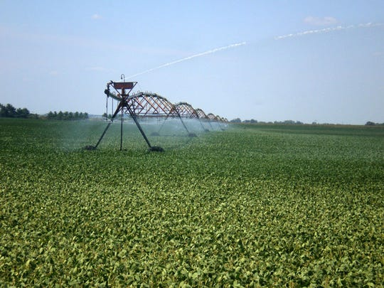Crop farmers depend on high capacity wells to irrigate