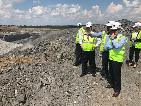 EPA Administrator Scott Pruitt is shown mining site