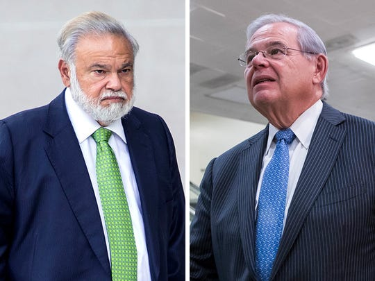 Dr. Salomon Melgen, left and Sen. Bob Menendez have pleaded not guilty to a federal indictment accusing them of bribery and other corruption.