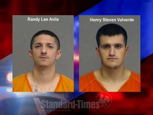 Mug shots of Randy Lee Avila and Henry Steven Valverde