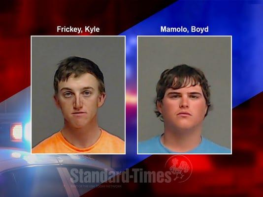 Mug shots of Kyle Frickey and Boyd Mamolo