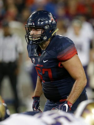 Arizona linebacker Cody Ippolito (57) during the first half of an NCAA college football game against Washington, Saturday, Sept. 24, 2016, in Tucson, Ariz.