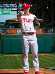 """""""Did I take maybe the longer route or the route less traveled? Maybe,"""" Phillies pitcher Jerad Eickhoff said of his junior college experience."""