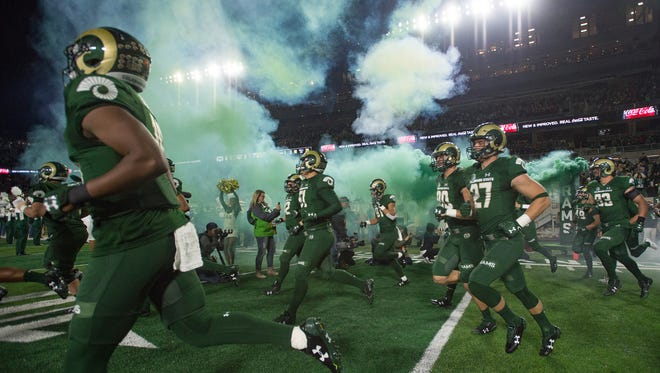 CSU's football team takes the field for a homecoming game Oct. 14 against Nevada. The Rams play a home game again Saturday against Air Force.