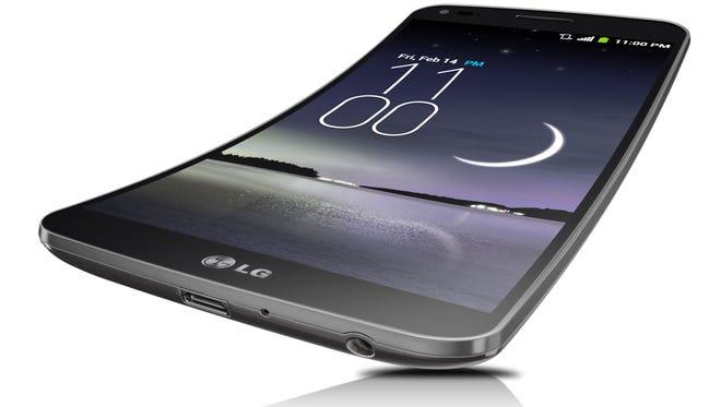 The LG G Flex.