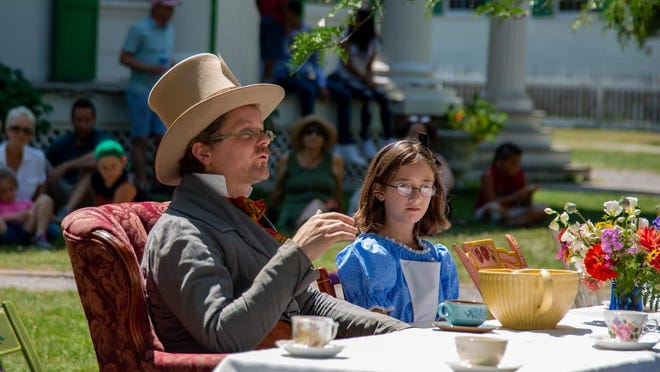 """Characters from """"Alice and Wonderland"""" host a tea party during """"A Novel Weekend"""" at the Genesee Country Village & Museum."""