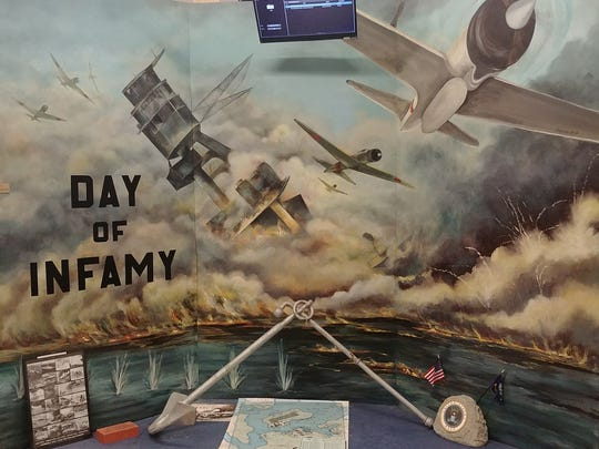 Artist Mary Anne Passatore created this World War II mural at the Southwest  Florida Military Museum and Library, in Cape Coral.