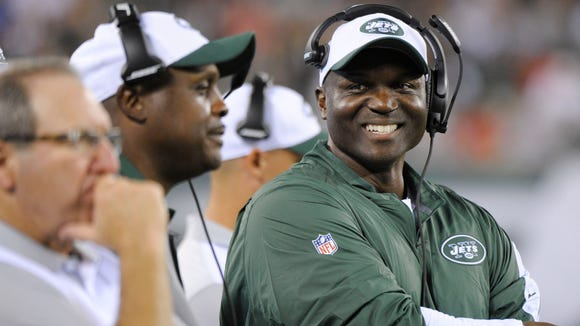 Todd Bowles should find time to smile when his Jets take on Philly on Sunday.