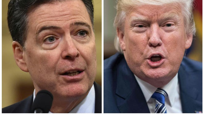 FBI director James Comey (left) and President Trump (right)