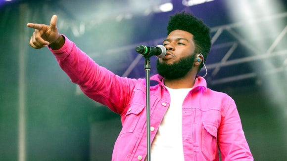 Singer-songwriter Khalid performs to an enthusiastic hometown crowd at the Neon Desert Music Festival 2017 Sunday night in downtown El Paso.