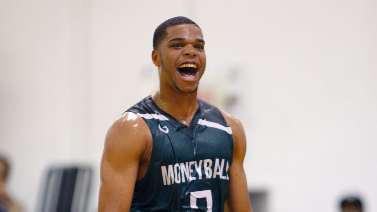 Watch as Michigan State's Miles Bridges dunks at Moneyball Pro-Am.