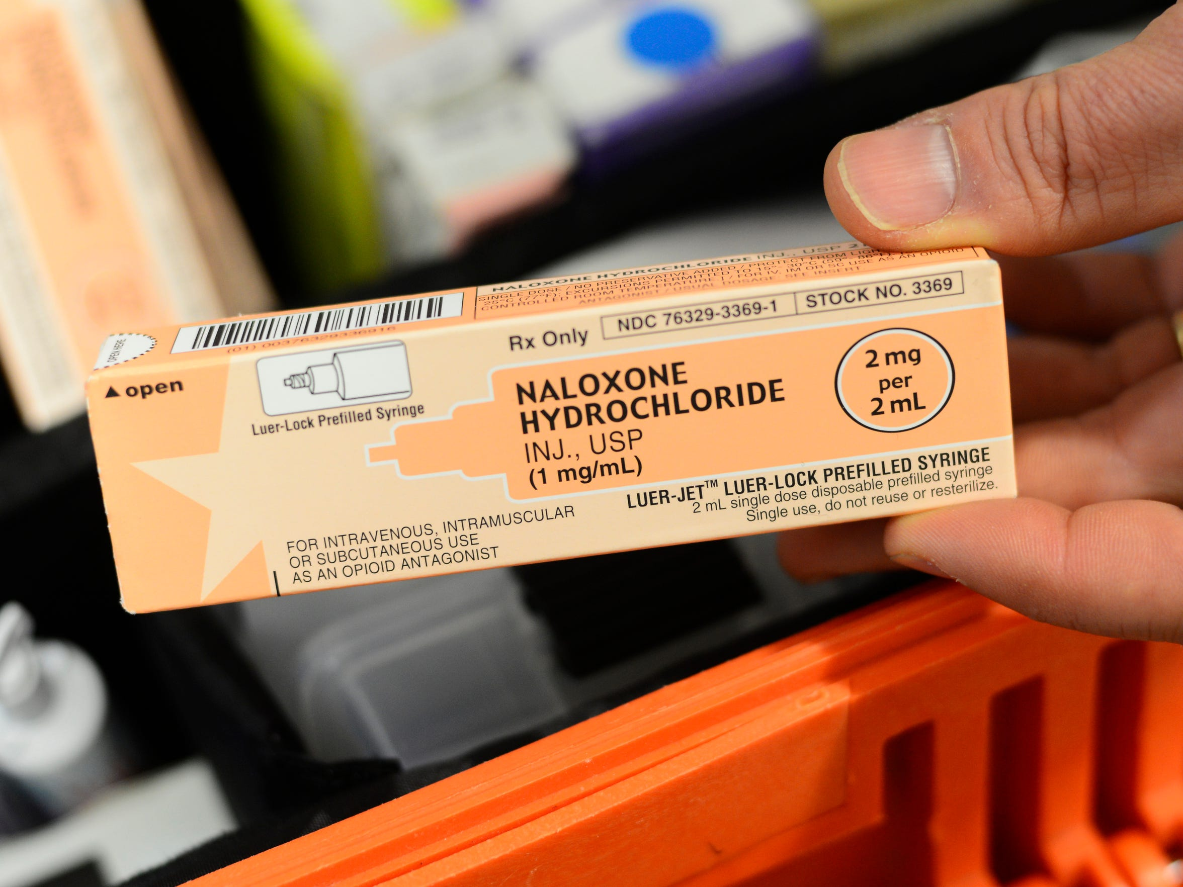 EMS uses the drug naloxone to revive people overdosing on heroin.