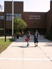 This Free Press file photo shows students walking to