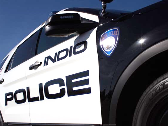 An undated Indio Police Department car