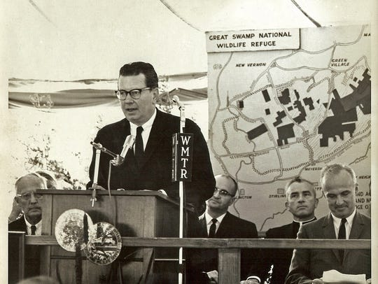 The May 29, 1964 image of the Great Swamp dedication