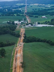 This photo was taken during construction for the Sunoco Mariner East pipeline in July 2017.