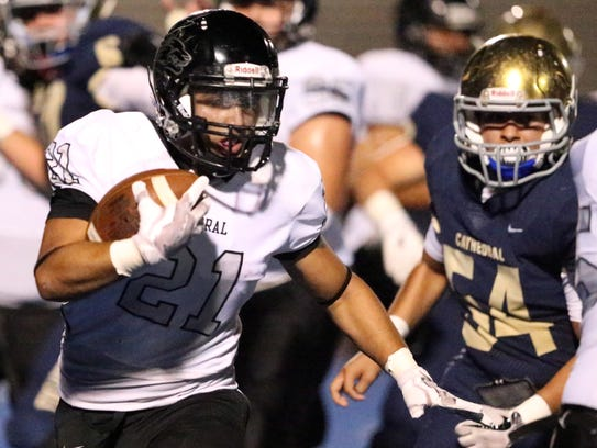 Chaparral running back Abraham Ibarra, 21, carries