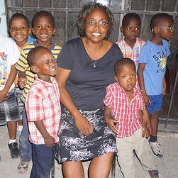 """Roberta Edwards, the administrator and """"Mom"""" at SonLight Children's Home, was killed in Haiti on Saturday, Oct. 10, 2015."""