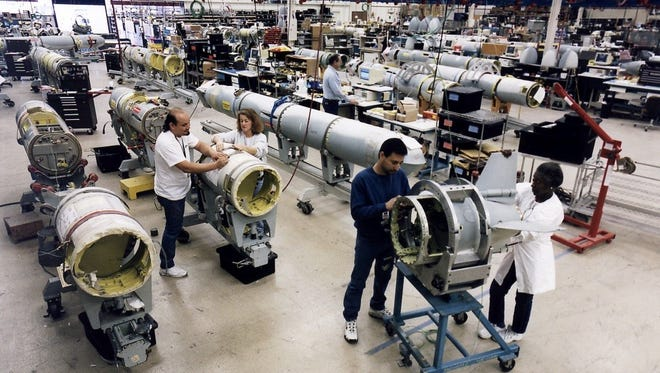 Inside the factory where Raytheon produces Tomahawk Cruise Missiles.