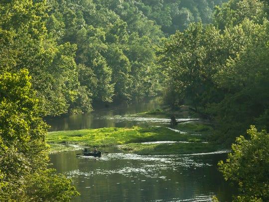 Fishing at Green River Lake State Park.