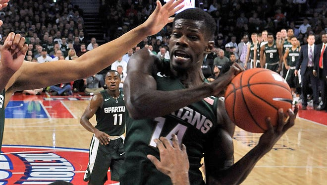 Eron Harris and Michigan State open the season against Northwood in an exhibition on Oct. 27, which will be shown on BTN-Plus.