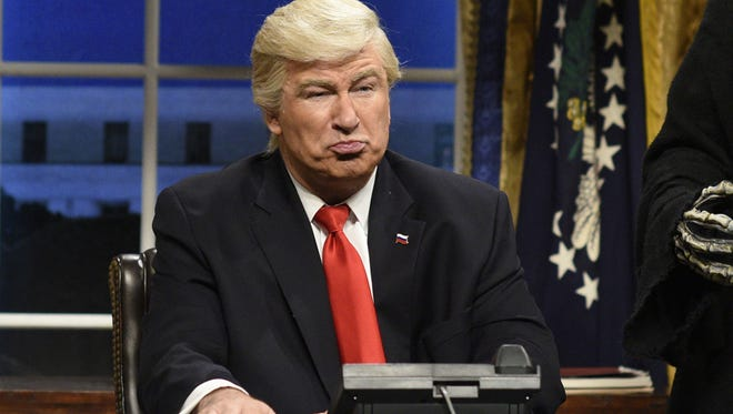 Alec Baldwin as President Donald Trump on 'Saturday Night Live' on Feb. 4.
