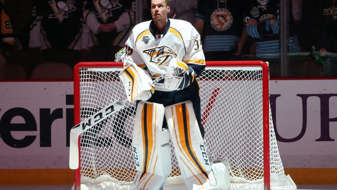 Predators goaltender Pekka Rinne is 15-19 all-time in the playoffs with a 2.47 goals-against average and .914 save percentage.