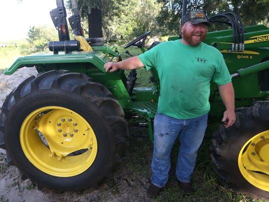 Andrew Haubrick started working his tractor at 4 a.m.