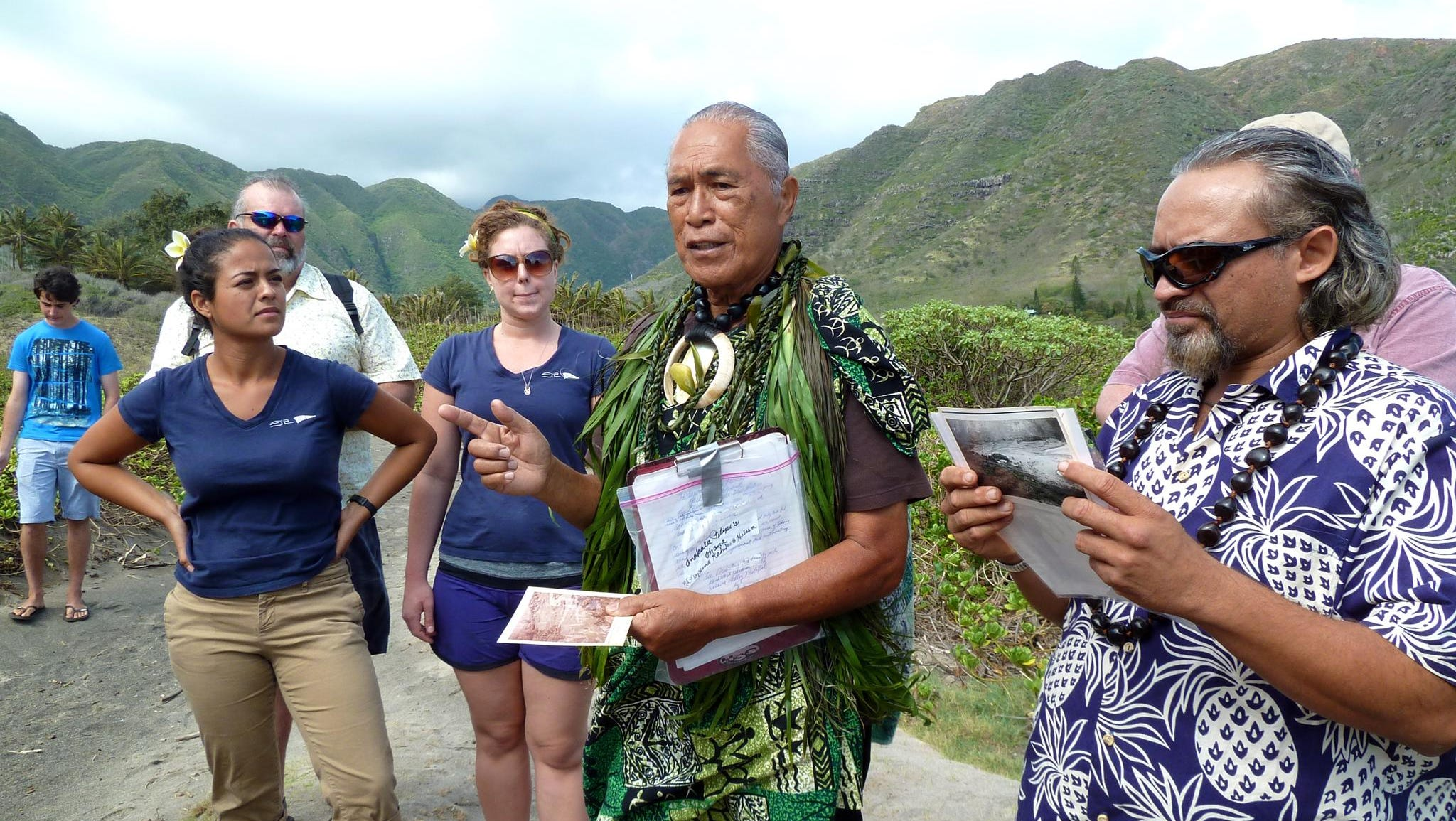Un-Cruise Adventures works closely with land-based entities to provide unique adventures such as a visit to Molokai'i's Halawa Valley where the local elder Ana Kala Pilipo Solitaro shares the region's history and grants access for a hike to a secluded waterfall.