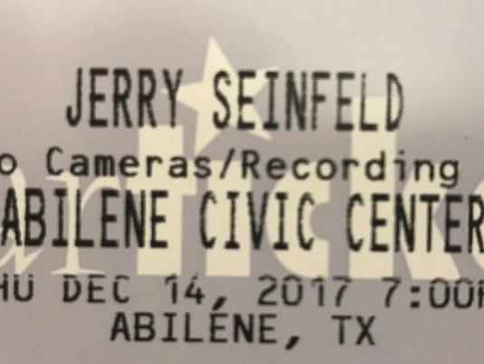 Seinfeld-ticket
