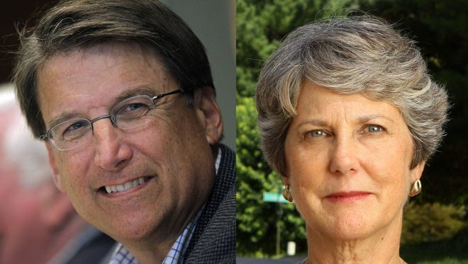 Gov. Pat McCrory, left, and Patsy Keever.
