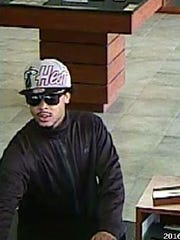 Des Moines Police released this photo of a suspect in a West Bank robbery on Wednesday, March 16, 2016.