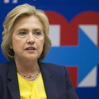 Democratic presidential candidate Hillary Clinton speaks in New York on May 12.