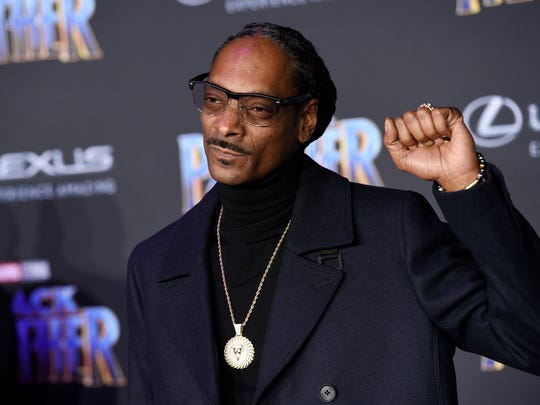 "Rapper Snoop Dogg, posing at the premiere of the film ""Black Panther"" last year, is coming to the Southwest."