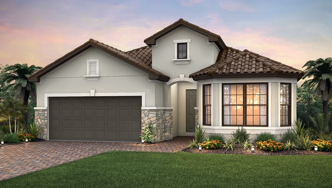 The Summerwood is under construction in Pulte's new Amaranda village at Fiddler's Creek.