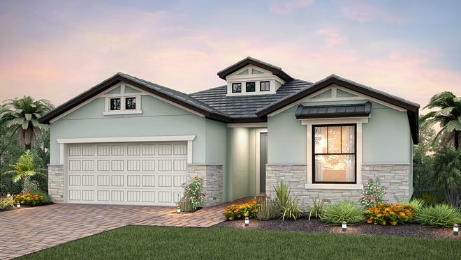 The Summerwind model in Pulte Homes' new community of Avery Square in North Naples.