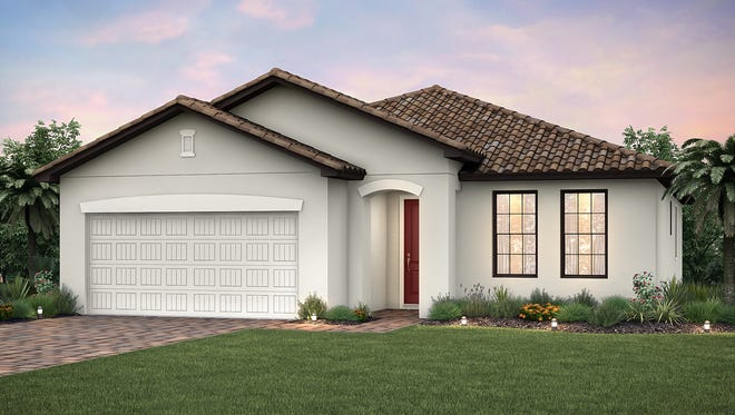 The 1,972-square-foot Canopy floor plan by Pulte Homes is one of two plans that is due for completion in March.
