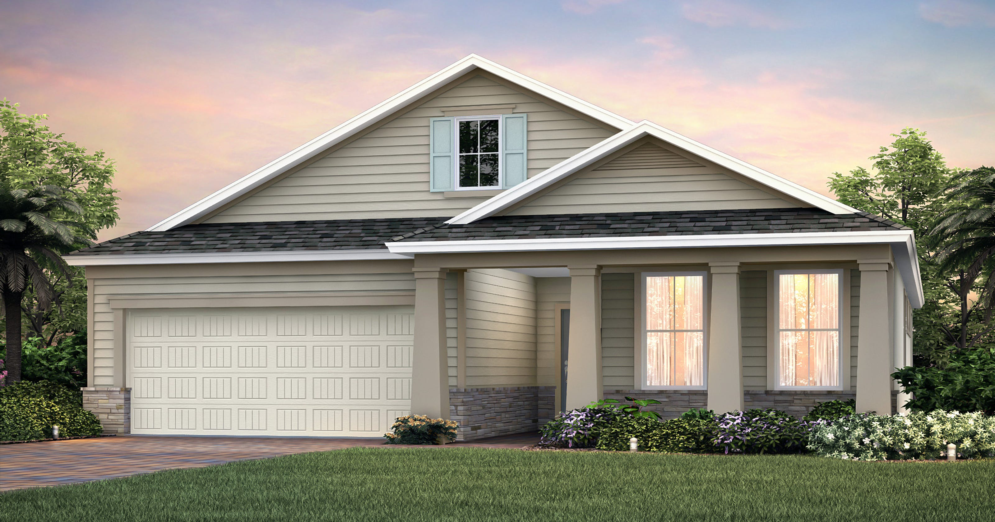 Pulte homes parkside models near completion at babcock ranch - Model homes near me ...
