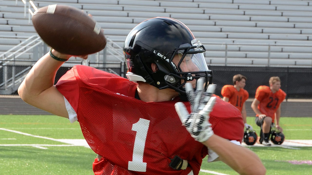 Spencer Mykols talks about how he's handled being a backup quarterback at Brighton for two years and how he stayed prepared for a big moment last Friday at Novi.