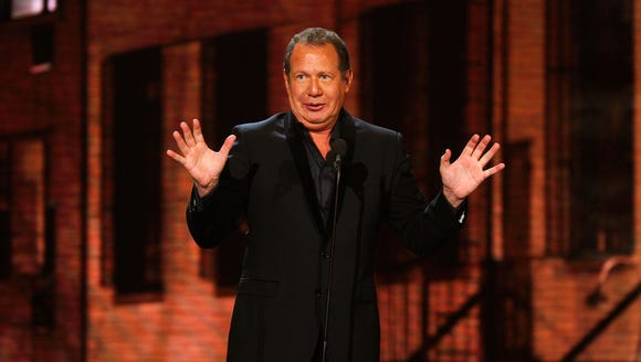 Garry Shandling speaks onstage at the First Annual